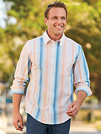 Scandia Woods Linen-Look Stripe Shirt