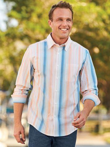 Scandia Woods Linen-Look Stripe Shirt - Image 1 of 4