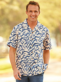 Scandia Woods Wave Linen-Look Shirt