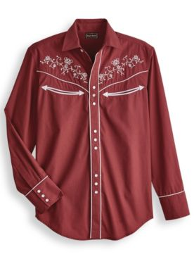 High Noon™ Snap-Front Embroidered Western Shirt