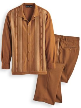 Stacy Adams® Coordinating Shirt and Pants Set
