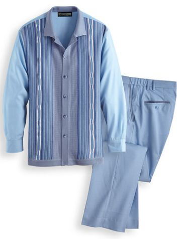 Stacy Adams® Coordinating Shirt and Pants Set - Image 3 of 3