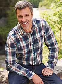 Scandia Woods Vintage-Wash Flannel Shirt by Blair