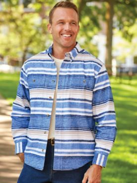 Scandia Woods Striped Chamois Shirt