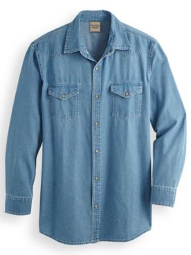 Scandia Woods Snap-Front Denim Shirt