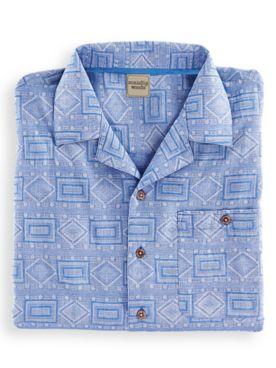 Scandia Woods Short-Sleeve Jacquard Shirt