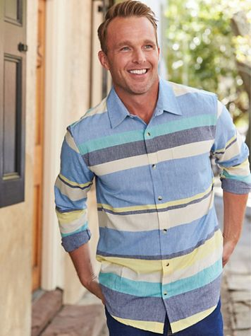 Scandia Woods Chambray Striped Shirt - Image 1 of 3