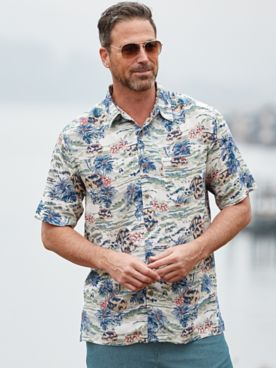 Scandia Woods Tropical-Print Shirt