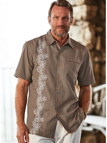 Scandia Woods Linen-Look Embroidered Shirt - Image 1 of 3