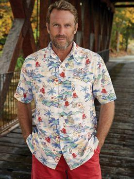 Scandia Woods Hawaiian Print Shirt