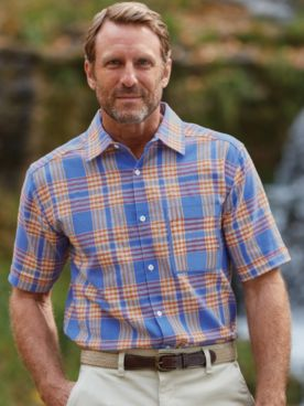 Scandia Woods Linen-Like Plaid Shirt
