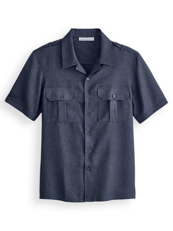 Irvine Park Short-Sleeve Mélange Pilot Shirt