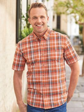 Scandia Woods Short-Sleeve Plaid Shirt