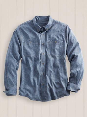 Scandia Woods Long-Sleeve Sun Guard Chambray Shirt - Image 0 of 1