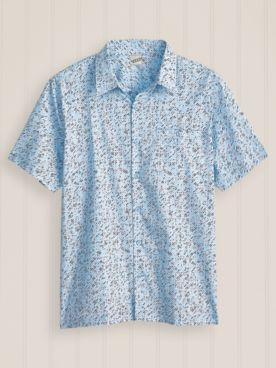 Irvine Park Short Sleeve Geometric Pattern Shirt