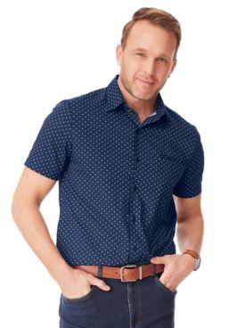 John Blair Pin-Dot Sport Shirt