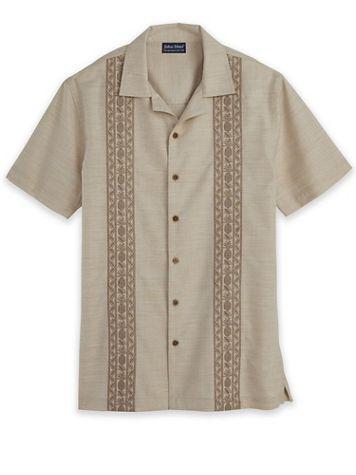 John Blair Linen-Like Embroidered Shirt - Image 1 of 4