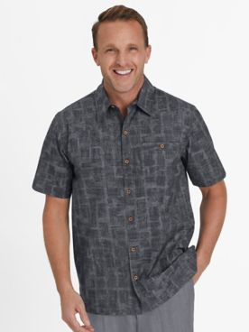 John Blair Signature Printed Stretch Shirt