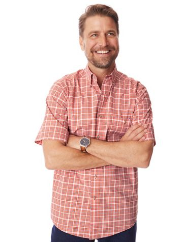 Wrangler Rugged Wear Short-Sleeve Wrinkle Resistant Shirt - Image 1 of 5