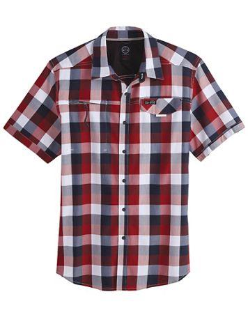 Wrangler All-Terrain Gear Asymmetric Zip-Pocket Shirt - Image 1 of 4
