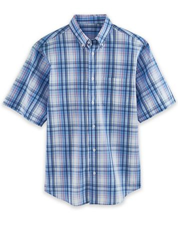 Short-Sleeve Woven Sport Shirt - Image 1 of 4