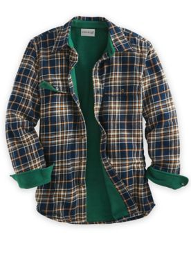 John Blair Flannel Fleece-Lined Shirt