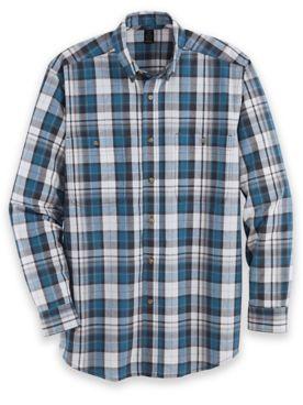 Wrangler Blue Ridge Long-Sleeve Easy-Care Shirt