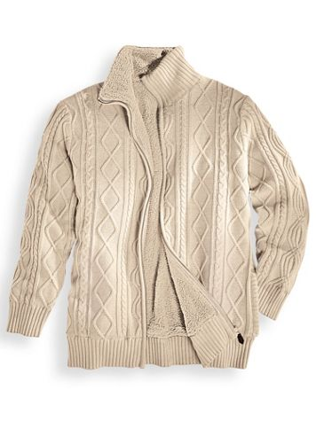 Scandia Woods Full-Zip Fisherman Cable Sweater - Image 1 of 1