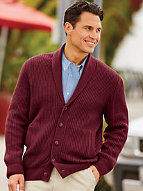 Men's Vintage Style Sweaters – 1920s to 1960s John Blair Shaker Knit Cardigan Sweater $49.99 AT vintagedancer.com