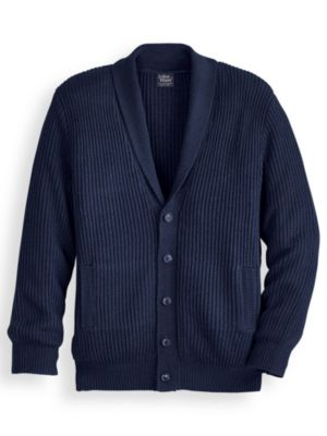 1950s Men's Clothing John Blair Shaker Knit Cardigan Sweater $39.99 AT vintagedancer.com