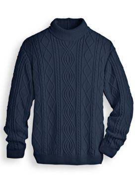 John Blair Fisherman Turtleneck Sweater