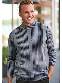 Scandia Woods Drop-Needle Mock-Neck Sweater