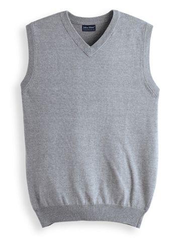 John Blair® V-Neck Sweater Vest - Image 1 of 4