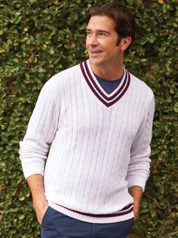 John Blair® Tennis Sweater
