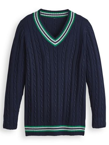 John Blair® Tennis Sweater - Image 2 of 2