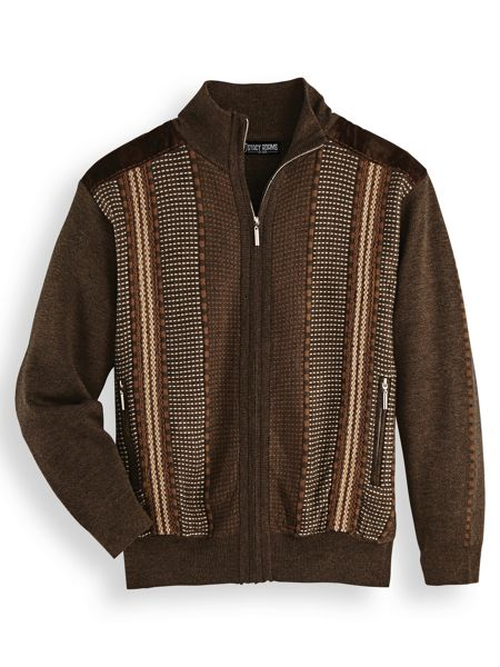 Retro Clothing for Men | Vintage Men's Fashion Stacy Adams® Cardigan Sweater  AT vintagedancer.com