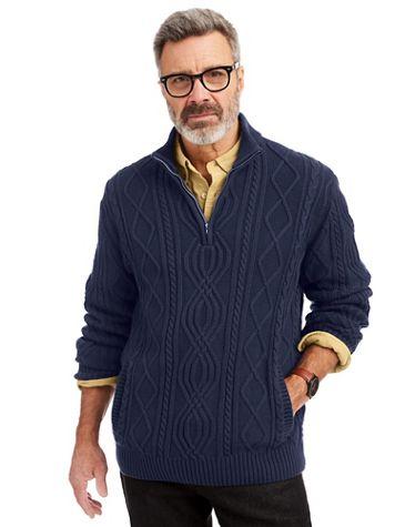 Scandia Woods Quarter-Zip Fisherman Sweater - Image 1 of 3