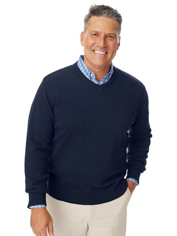 Marquis Signature Solid V-Neck Sweater - Image 1 of 5