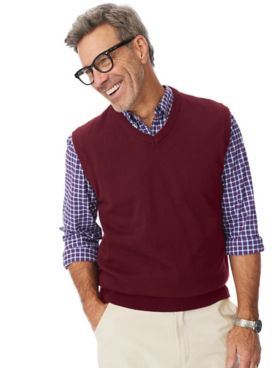 Marquis Signature Solid V-Neck Vest