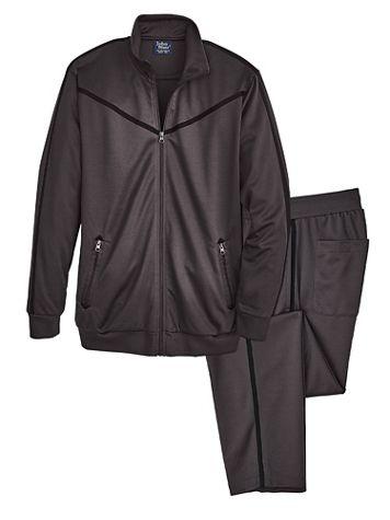 John Blair Accent-Stripe Jog Suit - Image 2 of 2