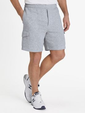 John Blair Relaxed-Fit Fleece Cargo Shorts