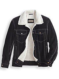 Scandia Woods Sherpa-Lined Suede Jacket