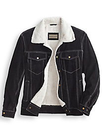 Scandia Woods Sherpa-Lined Suede Jacket by Blair