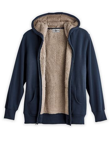 Scandia Woods Sherpa-Lined Fleece Hoodie - Image 1 of 9