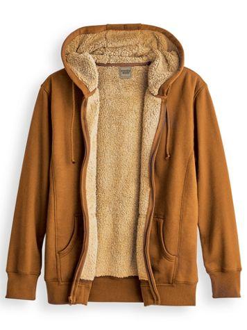 Scandia Woods Sherpa-Lined Fleece Hoodie - Image 1 of 2