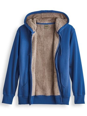 Scandia Woods Sherpa-Lined Fleece Hoodie - Image 1 of 2