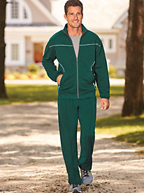 Scandia Woods Reflective-Trim Knit Jog Suit by Blair
