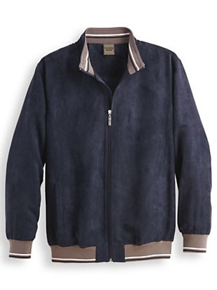 1940s Men's Fashion Clothing Styles Scandia Woods Water Resistant Suede-Touch Jacket $39.99 AT vintagedancer.com