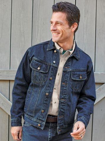 Men's Wrangler® Denim Jean Jacket - Image 2 of 2