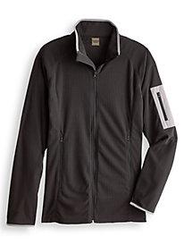 Scandia Woods Grid Fleece Jacket by Blair